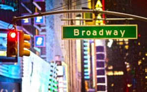 traffic lights in Broadway NYC